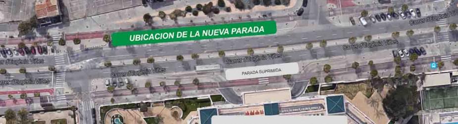 Nota informativa sobre la supresión temporal de la parada del Hotel Las Arenas